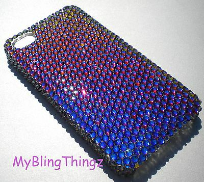 MERIDIAN BLUE Crystal Bling Back Case for iPhone X made with Swarovski Crystals Blue Crystal Case