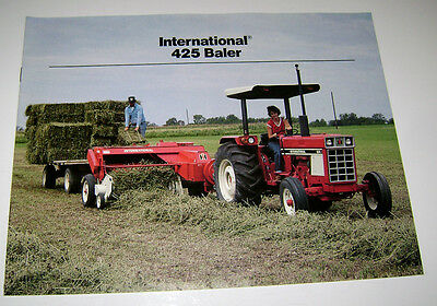 Ih International 425 Hay Baler Sales Brochure Literature Advertising Ihc