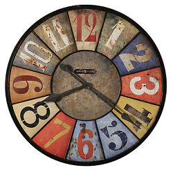 HOWARD MILLER -MULTI-COLORED GALLERY CLOCK- COUNTY LINE 625-547