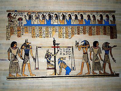 Ägypten  Papyrus-Bild 30 x 40 Das Totengericht