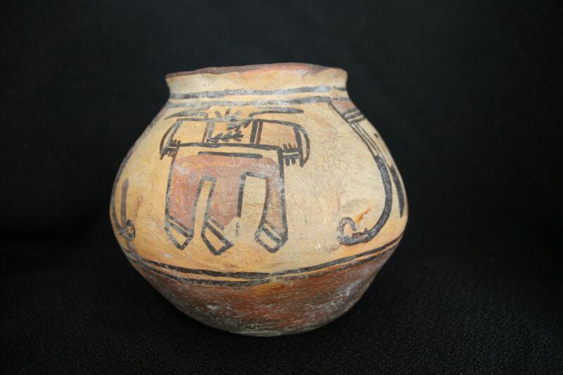 Polacca Polychrome Jar Pottery - Avian Feather Motifs - c. 1890 Hopi - Old
