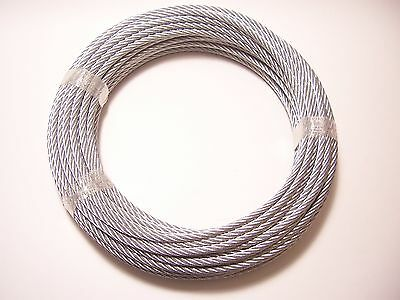 Galvanized Wire Rope Cable 316 7x19 50 Ft