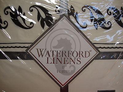 NEW WATERFORD SHEFFIELD BLACK QUEEN FLAT SHEET Waterford Flat Sheet
