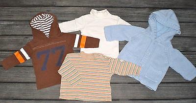 JOLI LOT 1 GILET POLAIRE + 3 T-SHIRTS vêtement bébé  3 MOIS BON ÉTAT !!
