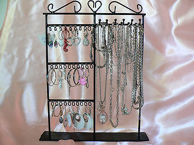 Earring Necklace Tree Jewelry Display Stand Rack Black