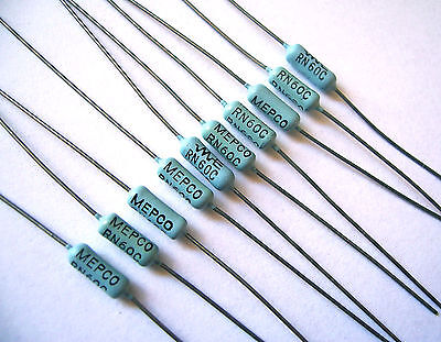 10-pack Mepco Electra Rn60c 93.1k Ohm 1 12w Precision Metal Film Resistor