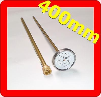 40mm bis 400mm Schaftlänge =/> sehr hochwertig Pizzaofen Thermometer 0-500°C