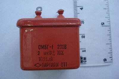 Ombg-1 2uf 200v 10 Paper Pio Capacitors Lot Of 10