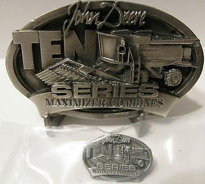 *John Deere 9510 Maximizer Combine Belt Buckle & Tie Clasp Hat Pin SET 9410 9610
