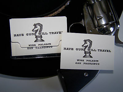 HAVE GUN WILL TRAVEL/Paladin - (12) Business card size cards! Amazing quality!