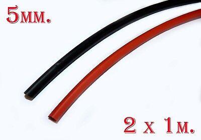 1 m x Schrumpfschlauch 9.5mm 2:1 Rot #A2762
