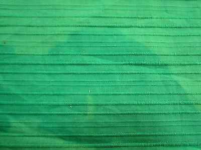 (Beautiful KELLY GREEN OTTOMAN-Like RIBBED TEXTURE 100% COTTON Fabric)