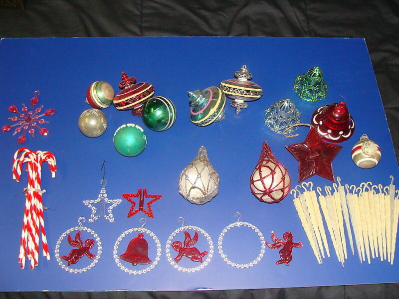 Large Lot of Vintage Christmas Ornaments