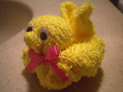 Duck Ducky Washcloth Baby Shower Favors !! ADORABLE