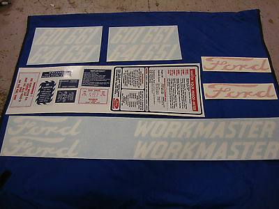 601 Ford Tractor Decal Set 601 641 651 661 Workmaster Gas Models 1958-1964