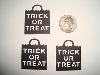 25 HALLOWEEN MARTHA STEWART BLACK TRICK OR TREAT BAGS DIE CUTS PUNCHES CONFETTI - Martha Stewart Halloween Treat Bags