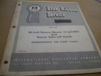 Farmall International Cub Cadet Service Manual 38 Inch Rotary Mowers Tractor