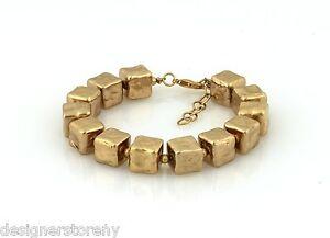 Belle Noel Kim Kardashian 14 kt y/g Molten Gold Cube Bracelet