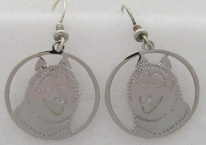 Siberian Husky Jewelry Silver Siberian Husky Earrings