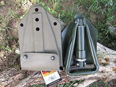 KLAPPSPATEN + BW Tasche faltbarer Spaten Outdoor Schaufel Hacke Schüppe Säge