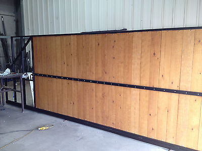 SLIDING WOODEN GATES ON STEEL FRAME TOP QUALITY BEST PRICES FAMILY BUSINESS