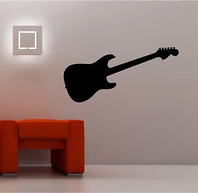 Guitarra Eléctrica Adhesivo Pared Vinilo Niños Música