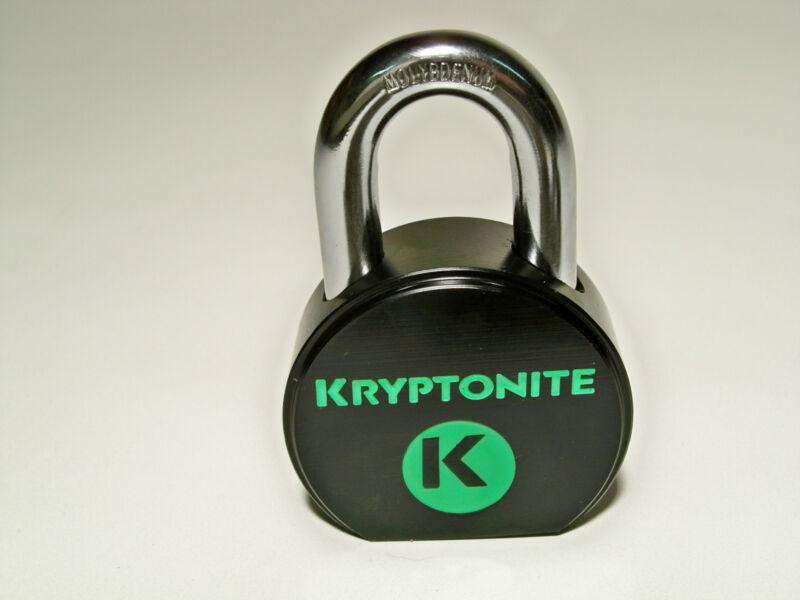 "Kryptonite Heavy-Duty Solid Steel Weatherproof Padlock Lock 1"" Hardened 2Key NEW"