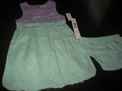 GIRLS KIDS DKNY SHORT SLEEVELESS DRESS SIZE 12 MONTHS MSRP $42 NWT