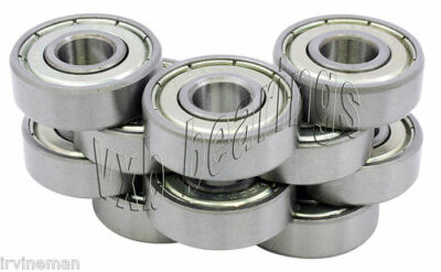 Lot 10 Stainless Steel Ball Bearings Sr166zz 316x 38x 18 Inch Imperial Id