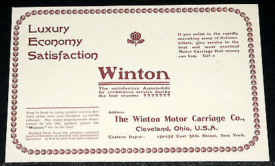 1900 Old Magazine Print Ad  Winton Motor Carriage Co  Service During 4 Seasons