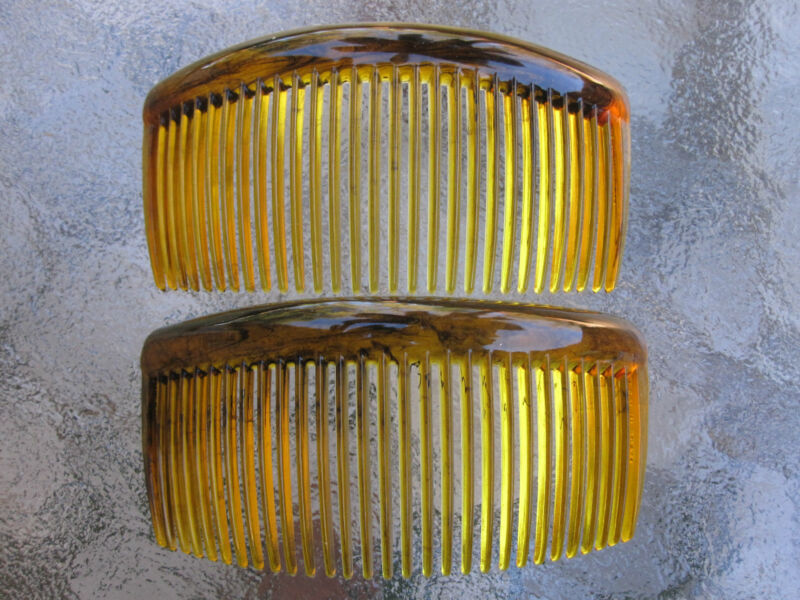 """2ea Rounded Back Hair Combs 3 3/4"""" Made in USA Good Hair Days Your Color Choice"""
