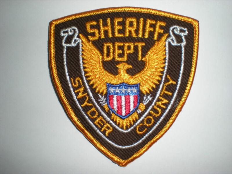 SNYDER COUNTY, PENNSYLVANIA SHERIFF