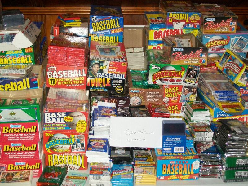 Unopened Baseball Card Packs!  1,000 Cards!