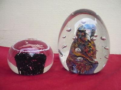 2 Beautiful Paperweight__Massive Glass BALLS __1,7kg