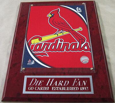 #1 FAN ST. LOUIS CARDINALS FRAMED 8 X 10 PHOTO-MAN CAVE ART-12X15 WALL PLAQUE