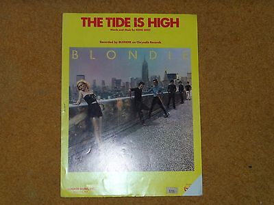 Blondie sheet music The Tide is High 1980 6 pages (VG shape)