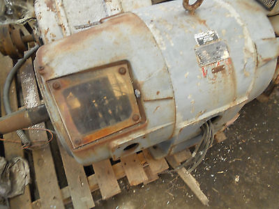 WEST. P&H CRANE DUTY ELECTRIC MOTOR 40 HP 365X DOUBLE SHAFT