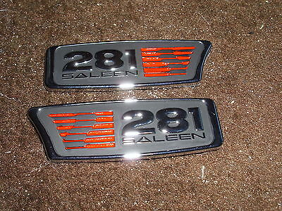 1999 2000 01 02 03 2004 FORD MUSTANG SALEEN S281 S-281 FRONT FENDER EMBLEMS Join in wedlock