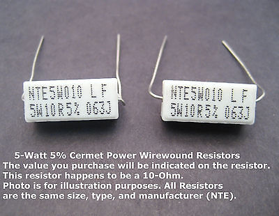 680-ohm 5w 5 Power Resistors Mfg. Nte 2pack Great Price For Small Qty