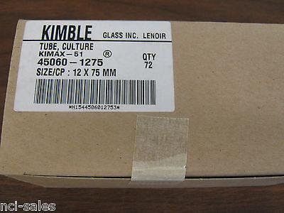 Kimble Tube Culture 45060-1275 Kimax-51 Sizecp 12 X 75mm Qty 72
