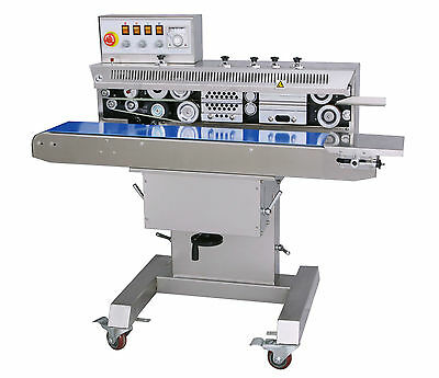 Entrepack Stainless Steel 2300h Horizontal Continuous Band Sealer Ink Printer