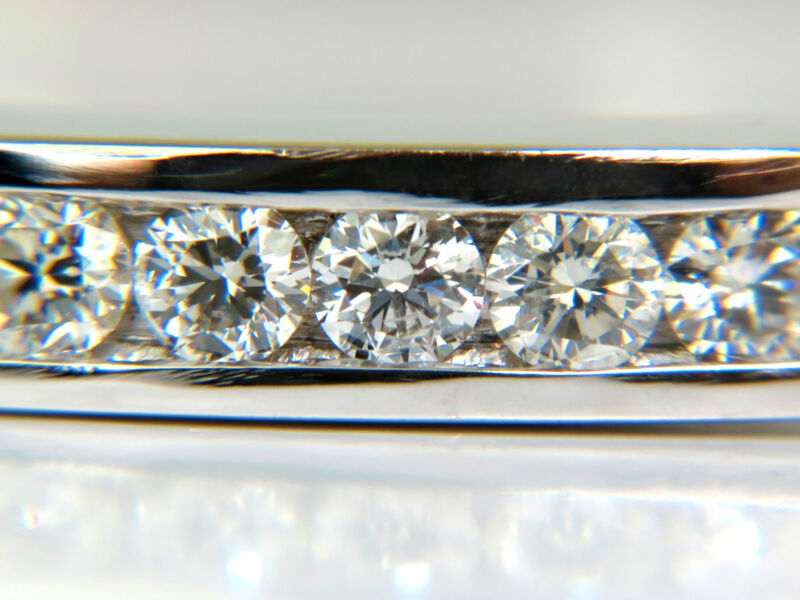 2.60ct Diamond Bangle Bracelet F/vs 14kt Heavy Solid Button Locked+