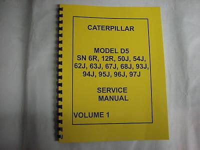 Caterpillar D5 Service Manual - New