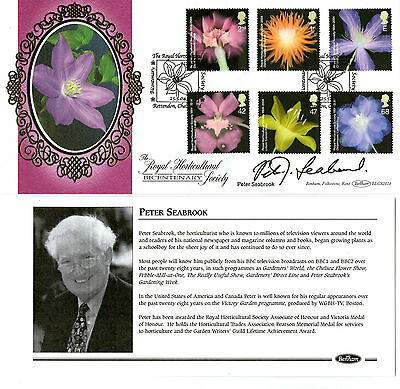 2004 ROYAL HORTICULTURAL SOCIETY SIGNED PETER SEABROOK BENHAM FIRST DAY COVER