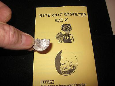 Bite Out Quarter Magic Trick - David Blaine/Street, Close-Up Coin Magic Illusion - Magic Coin Tricks