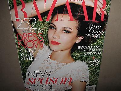 NEW! ~ HARPER'S BAZAAR AUSTRALIA October 2011 ALEXA CHUNG Cover Story