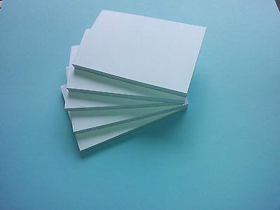 100 X A6 Paper Plain White Mini Jotter Notepads