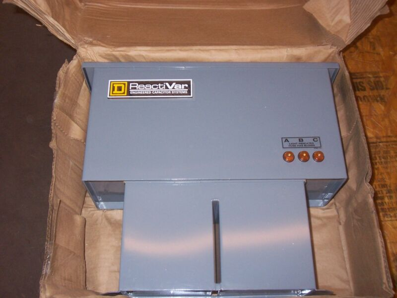 NEW SQUARE D PFCD4005RF POWER FACTOR CORRECTION CAPACITOR NEMA 3R 15 AMP FUSE
