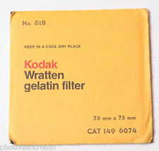 Filtro Kodak No 81b 75x75mm-Wratten//gelatina-Gelatin 3x3