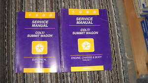1996 Eagle Summit Wagon & Dodge Colt Workshop Service Shop Repair Manual Set OEM
